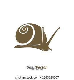 Snail logo design vector template. Silhouette of Snail design illustration