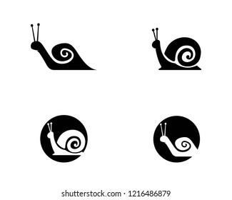 snail logo vector icon illustration design