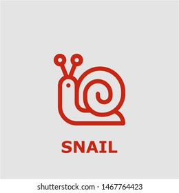Snail symbol. Outline snail icon. Snail vector illustration for graphic art.