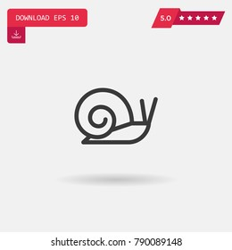 Snail vector icon. Emblem isolated on white background. Modern simple icon style for graphic and web design, logo. EPS10