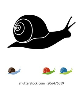 Snail vector silhouette