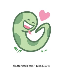 snake cartoon character cute isolated on white background, beautiful snake cartoon characters cute, clip art snake blue lovely and funny, clipart snake mascot cartoon green pastel color