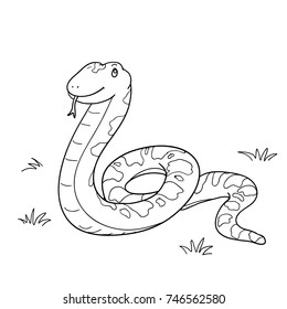 Snake cartoon vector hand drawn