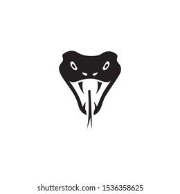 snake cobra face icon black illustration