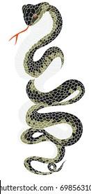 snake cobra tattoo style Cobra vector.