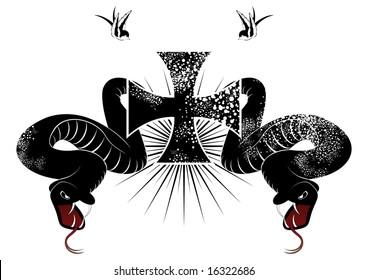 snake cross logo