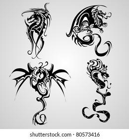 snake and dragon tattoo