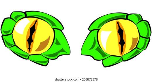 snake eyes vector illustration - in color