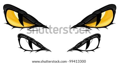 snake eyes vector illustration color monochrome のベクター画像素材