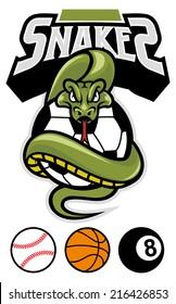 snake grip a sport ball