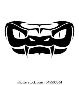 Snake head vector logo
