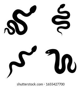 Snake icon, logo isolated on white background
