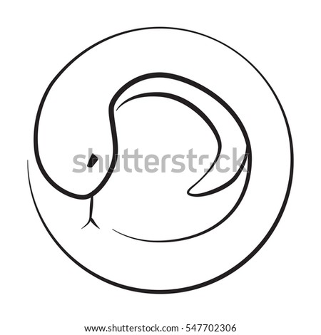 Snake Icon Signs Symbol Circle Shape Stock Vector Royalty Free