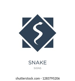 snake icon vector on white background, snake trendy filled icons from Signs collection, snake vector illustration