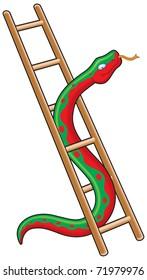 Snake and ladder business metaphor