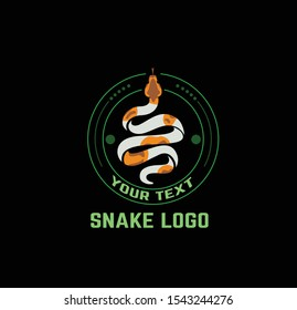 snake logo, community logo, reptile, vintage snake, snake vector, python logo