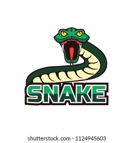snake logo for your business, vector illustration