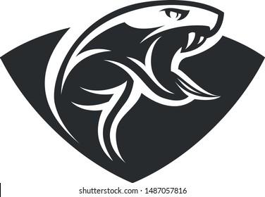 Snake modern style vector mascot template