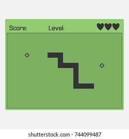 Snake retro game