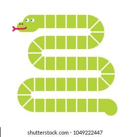 Snake shaped board background.