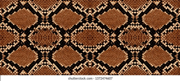Snake skin pattern texture repeating seamless. Vector. Texture snake. Fashionable print.
