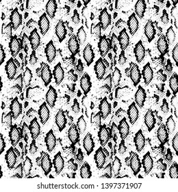 Snake skin scales texture. Seamless pattern black isolated on white background. simple ornament, fashion print and trend of the season Can be used for Gift wrap, fabrics, wallpapers. Vector