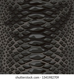Snake skin seamless background. Flat and solid color style vector illustration.