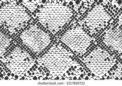 Snake skin seamless background. Vector illustration.