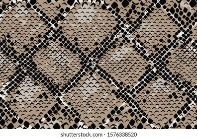 Snake skin seamless pattern. Colored. Vector illustration.