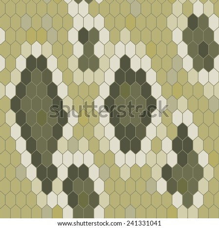 Snake Skin Texture Seamless Pattern Python Stock Vector (Royalty