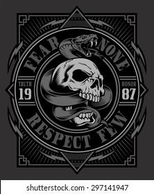 Snake skull graphic design