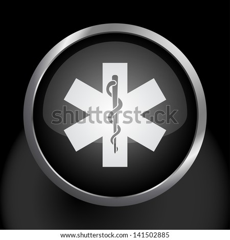 Snake Staff Common Health Medical Symbol Stock Vector Royalty Free