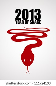 Snake, the symbol of year 2013. EPS10 poster