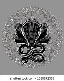 Snake Tattoo Cobra. Attack pose