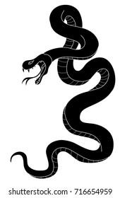 snake tattoo style vector illustration.