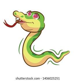 Snake vector design clipart cute