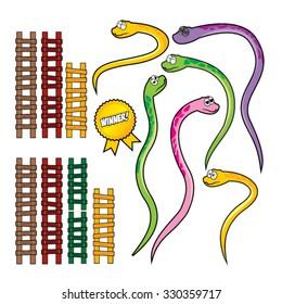 Snake and Wood Ladder Set