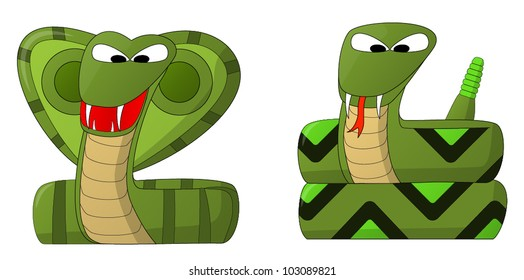 Snakes (Cobra and Rattler)
