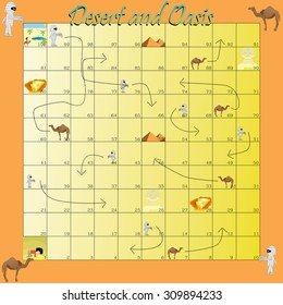 snakes and ladders in the desert