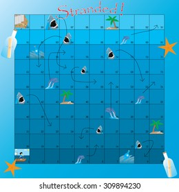 snakes and ladders in the water