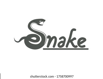 the snake's silhouette forms the letter S, as the beginning of a writing