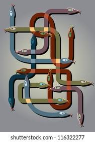 snakes thinking background