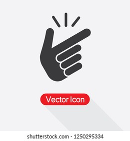 Snap Of The Fingers Icon Vector Illustration Eps10