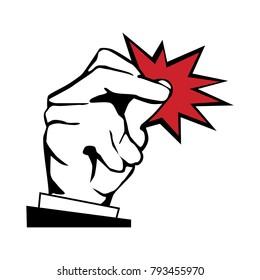 snap fingers illustration