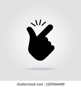 Snap fingers like easy emoji logo black design