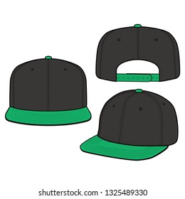 SNAPBACK Cap Fashion flat vector mockup design 1002e79247b0