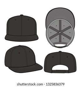 SNAPBACK Cap Fashion flat vector mockup design