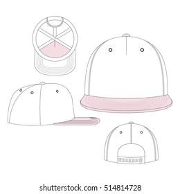 baseball cap vector template のベクター画像素材 ロイヤリティフリー