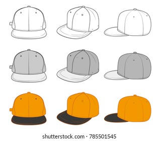 snapback line illustration