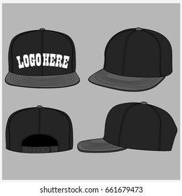 snapback set  Vector template